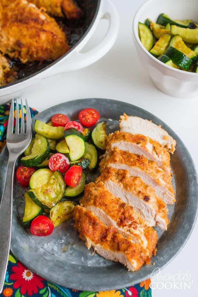 Spicy Oven Fried Chicken recipe