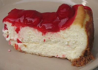 This creamy cherry cheesecake is baked from scratch and tastes delicious! It's how cheesecake recipes are meant to be!
