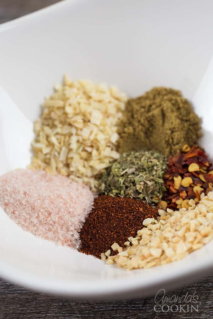taco seasoning mix ingredients in bowl
