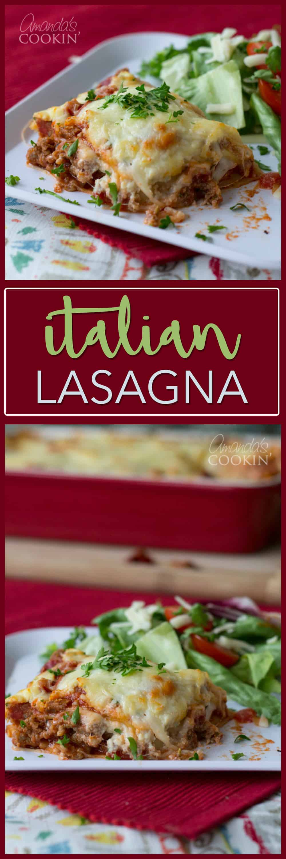 This Italian Lasagna comes from the back of the Creamette lasagna noodle box from years gone by. I've been making this lasagna recipe for over 20 years!