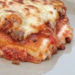 Italian lasagna with meat