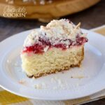 This Cherry Cream Cheese Coffee Cake is so full of delicious cherry flavor! One bite and you'll be hooked. Be ready for your next go-to coffee cake recipe!
