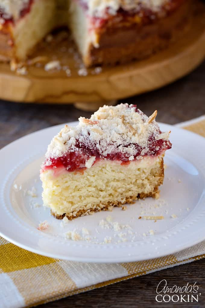 Mouth-watering cherry cream cheese coffee cake. One bite, and you're addicted!