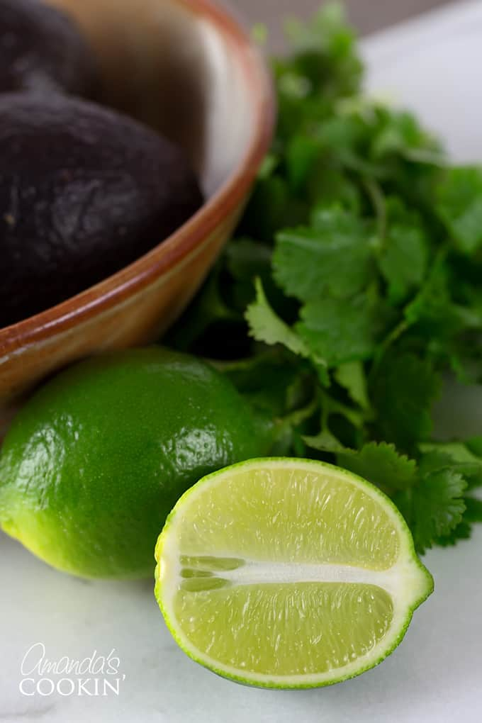 Ladle into heated bowls and garnish with cilantro, avocado, tortilla strips and lime wedges. Diners may squeeze the lime over their soup, if they desire