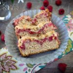 This Raspberry Coffee Cake is not an overly sweet coffee cake recipe, yet the delightfulness of the berries offsets a slightly dull cake and makes for a scrumptious morning wake-me-up! I love having a little bit of sweetness to accompany my morning coffee, and I figured this was the perfect fit.