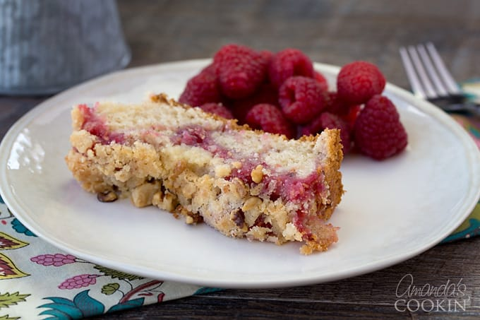 Scrumptious raspberry coffee cake!