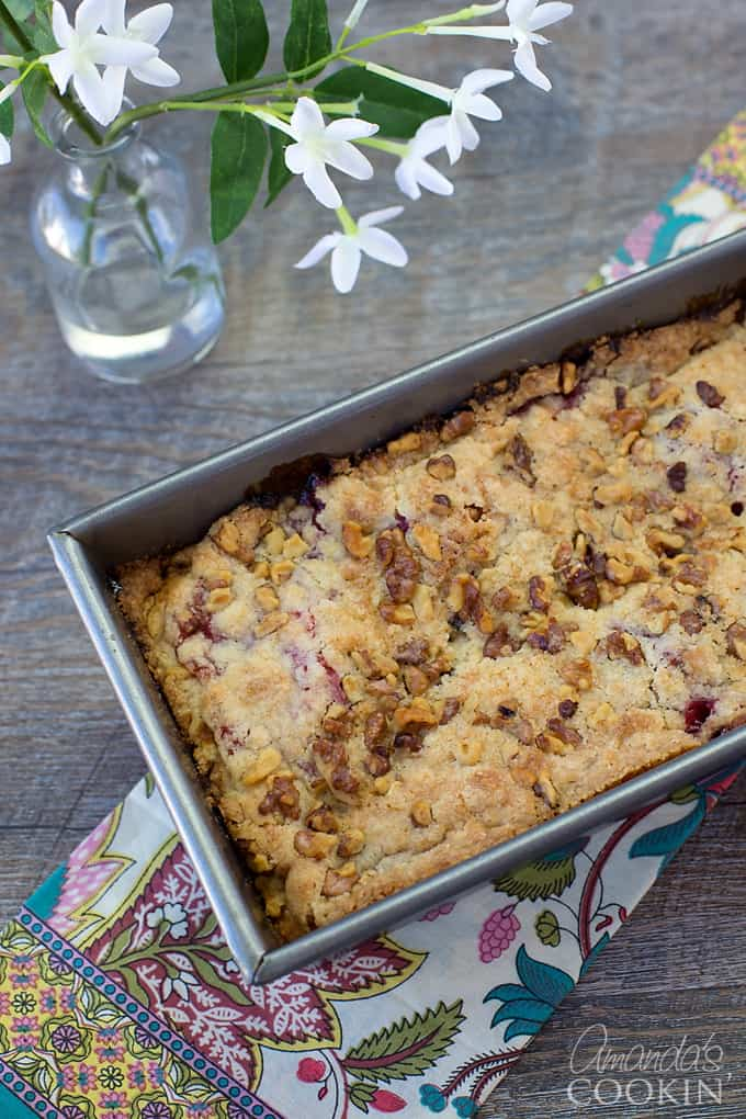 The aroma of delicious raspberry coffee cake will make you so hungry!