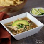 This chipotle chicken soup is spicy, delicious, and loaded with protein!
