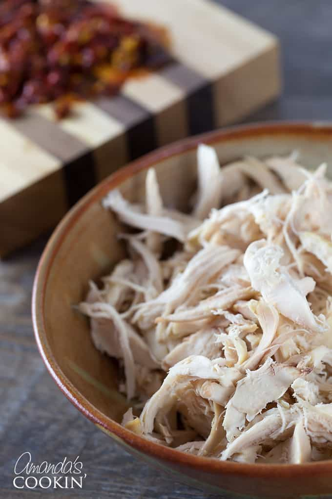 Add chickpeas, chicken and salt to taste.