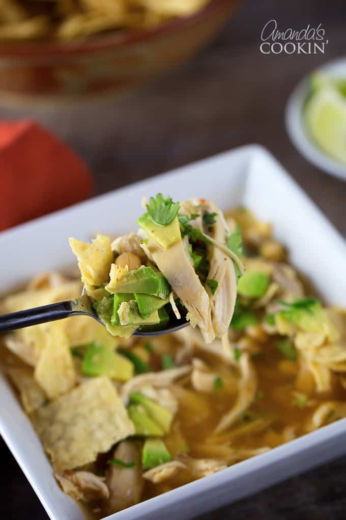 This chipotle chicken soup was quite spicy, tasted delicious and was super easy to make!