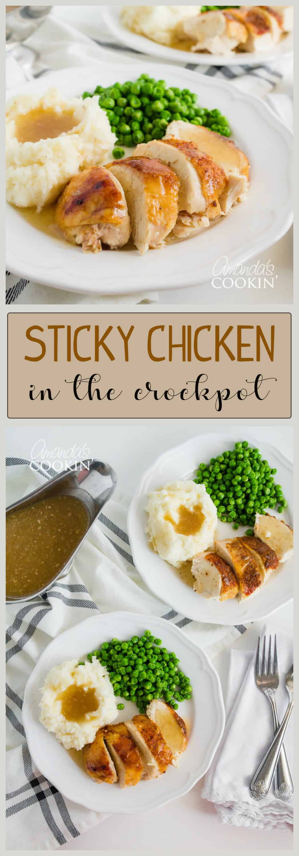 This crockpot chicken recipe is our family's favorite. We make good use of our slow cooker with this spice rubbed sticky chicken at least once a month.