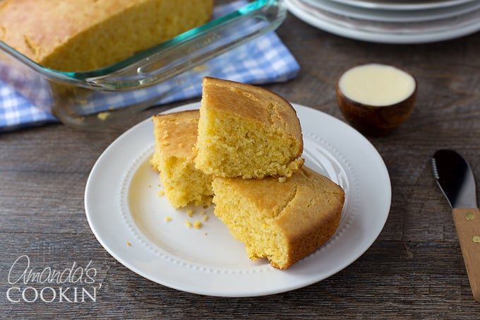 Delicious sweet cornbread to accompany your bowl of chili!