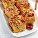 squares of cranberry coffee cake