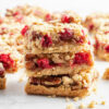 stack of three caramel cranberry bars