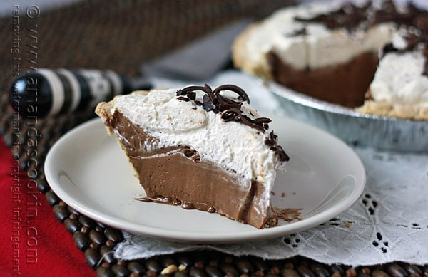 Homemade Baker's Square French Silk Pie from Amanda's Cookin @amandaformaro