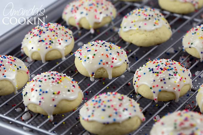 Italian Anisette Cookies with glaze