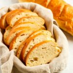 slices of homemade Italian bread in basket