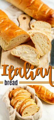 Italian bread pinterest image