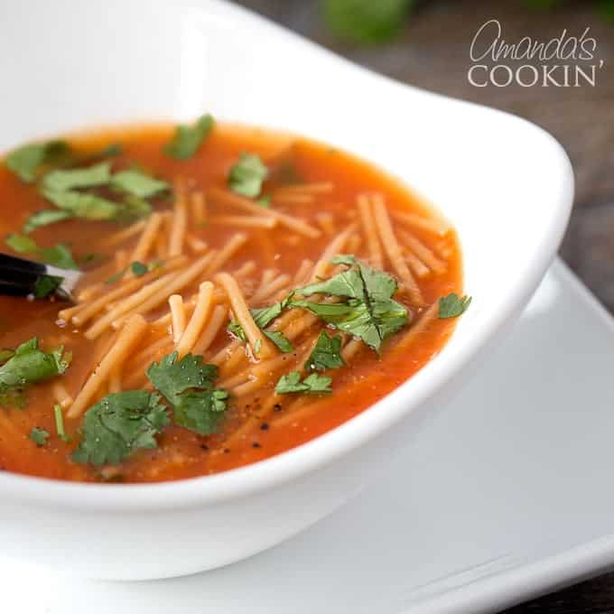 Fideo Soup - Mexican noodle soup