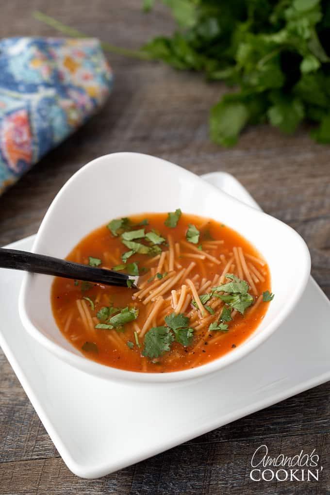 Mexican Noodle Soup - Sopa de Fideos