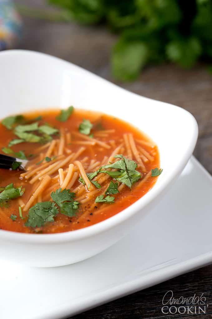 Delicious Sopa de Fideos classic Mexican Noodle Soup