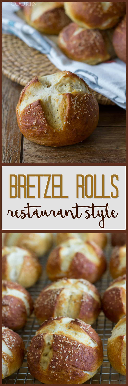 A photo of bretzel rolls.