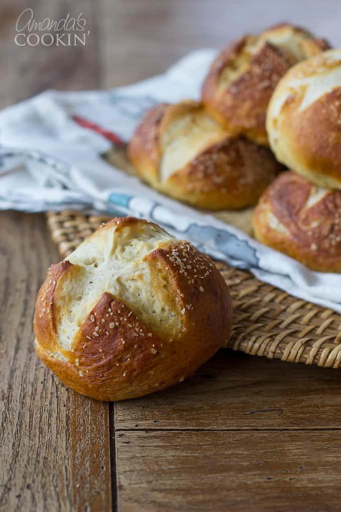 Bretzel Rolls: Pretzel sandwich buns, pretzel dinner rolls