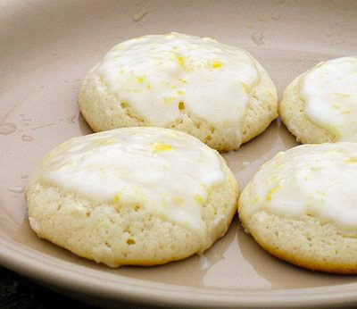 lemon drop cookies on a plate