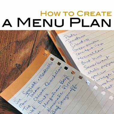 How to Create a Menu Plan @amandaformaro Amanda's Cookin'