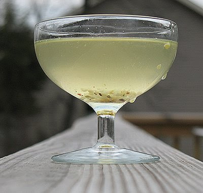 glass of pickle juice