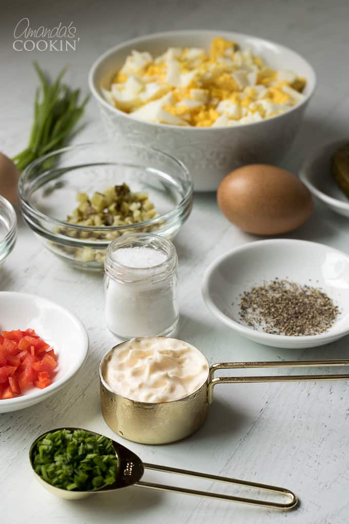 Ingredients for egg salad