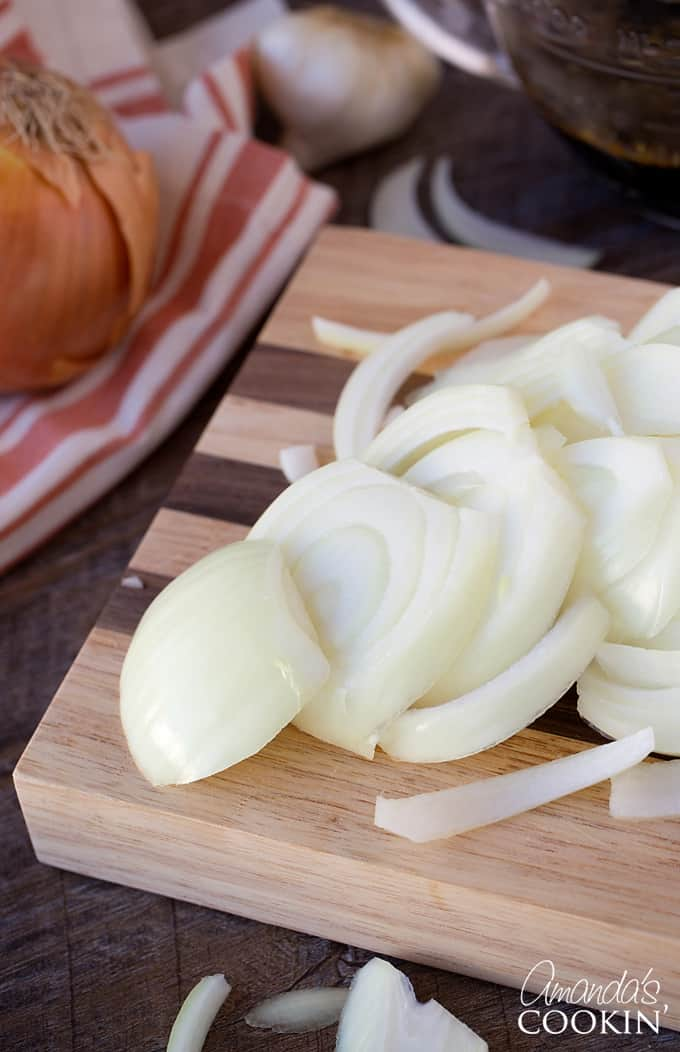 Slice your onions for the Amish Pot Roast
