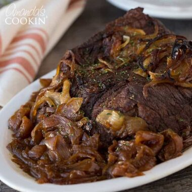 This Amish pot roast was honestly a huge hit. The whole family loved it. It was packed full of flavor and delicious juices! I highly recommend it if you love super flavorful dinner dishes, it won't disappoint!