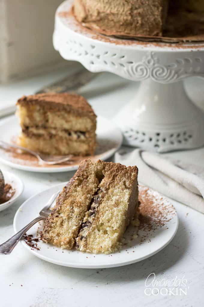 piece of tiramisu cake
