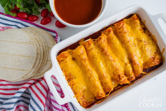 Homemade Enchilada Sauce with enchiladas