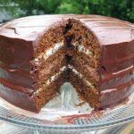 Amanda's 4 Layer Chocolate Dappled Pumpkin Cake