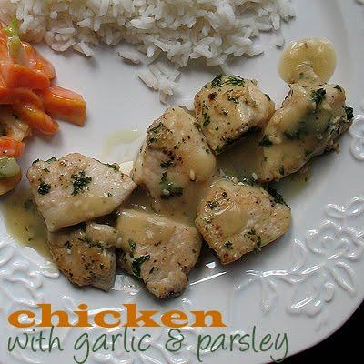 Chicken with Garlic & Parsley: (quick dinner) @amandaformaro