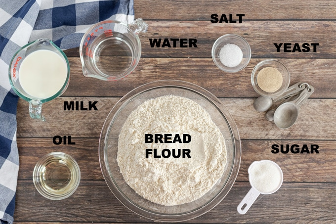 ingredients for homemade amish white bread