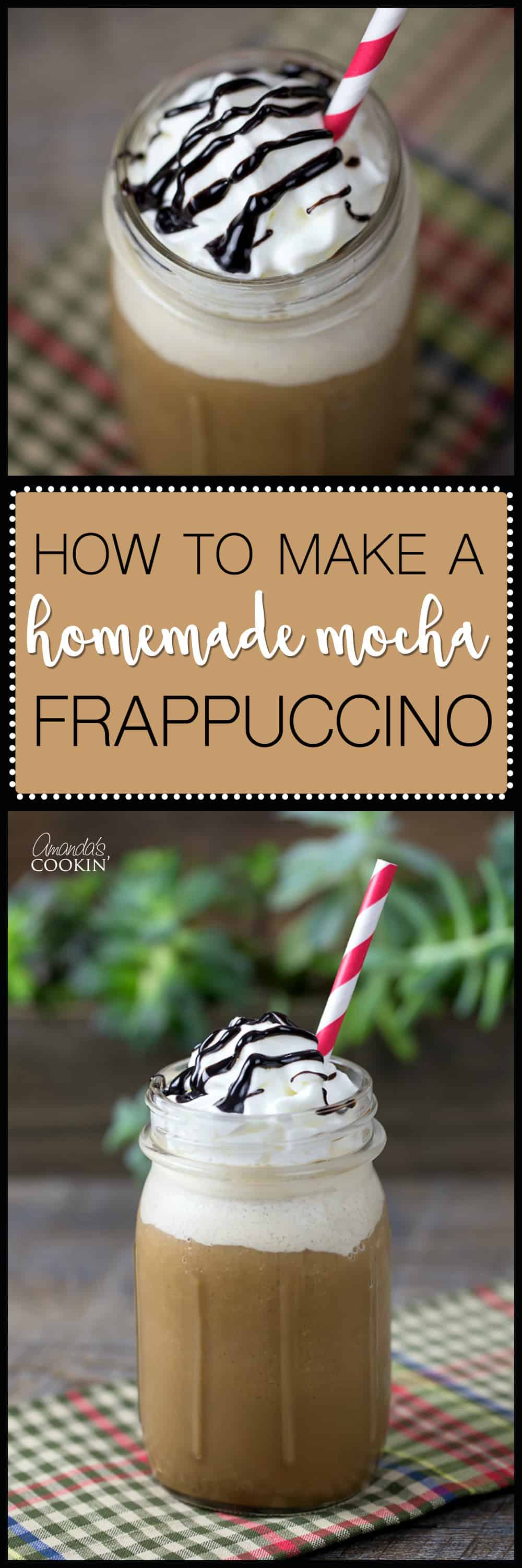 If you like Starbucks blended drinks, you will love this homemade mocha frappuccino! Full