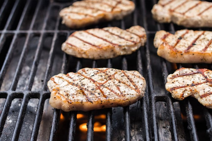 chops on the grill