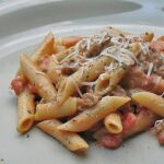Penne with Tomato Sage Sausage Sauce
