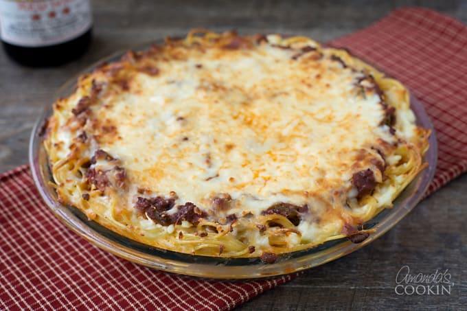 Spaghetti Pie- an easy weeknight dinner!