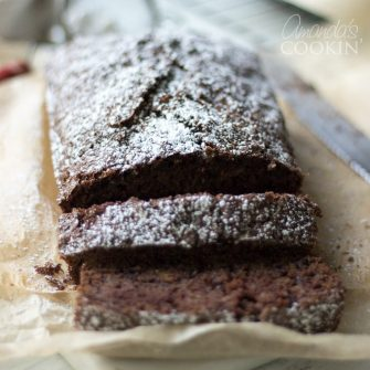 This chocolate zucchini bread is moist, chocolatey and every bit of delicious. It's a nice treat to bring to coworkers, neighbors, or to enjoy yourself.