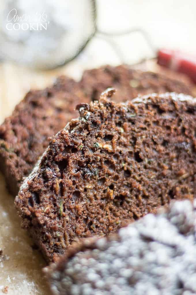 Chocolate Zucchini Bread slices