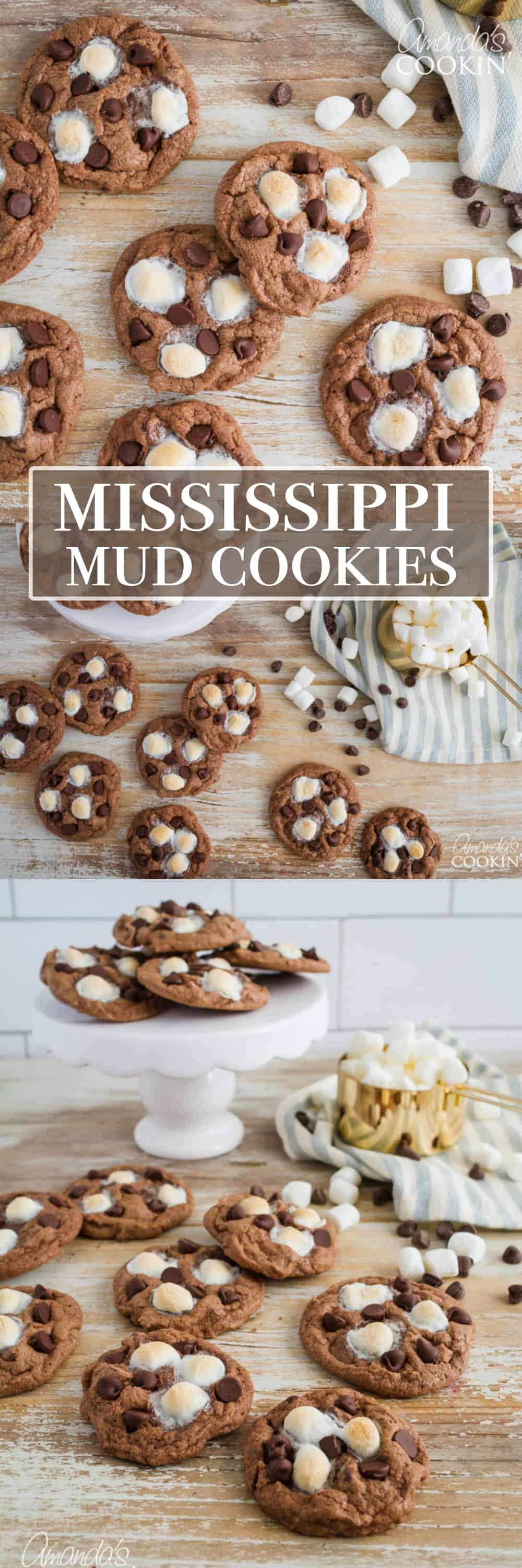 Mississippi Mud Cookies: chocolate and marshmallows combine forces yet again to create an ultra-satisfying cookie for chocolate lovers!