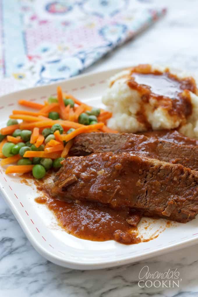 beef brisket on plate