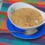 Corn and Red Pepper Chowder recipe