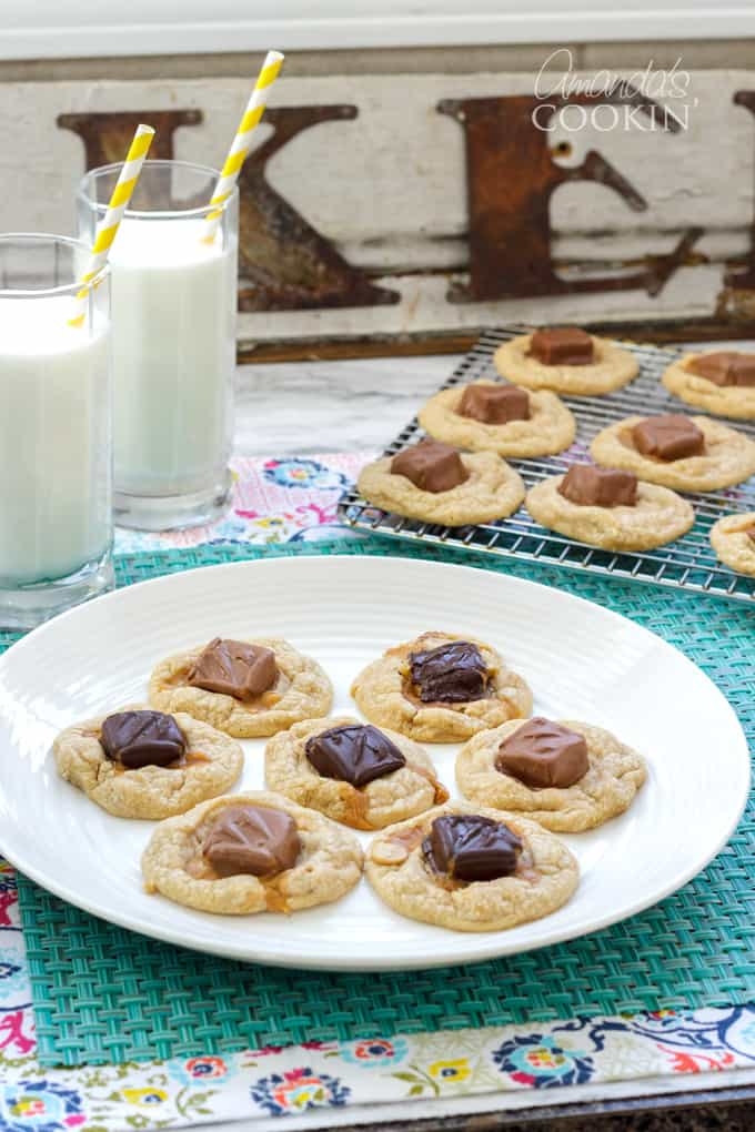 plate of candy bar cookies