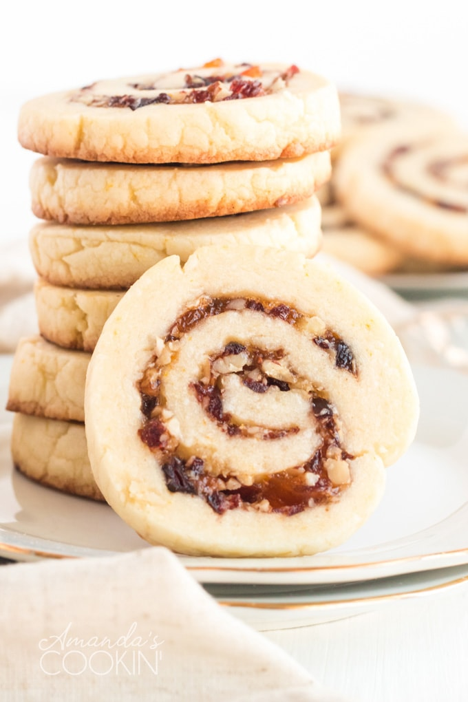 stacked spiral cookies