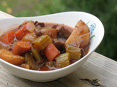 Crockpot Beef Stew & Buttermilk Rolls